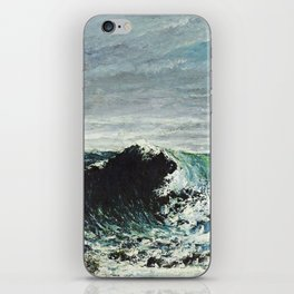 Gustave Courbet - The Wave iPhone Skin