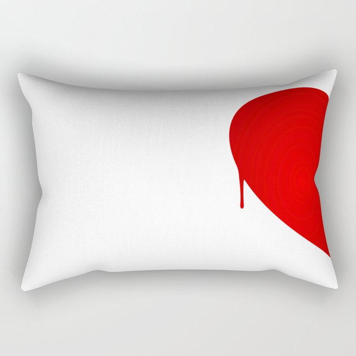 Half Heart Woman Rectangular Pillow