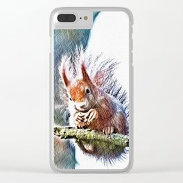 winter feeding Clear iPhone Case