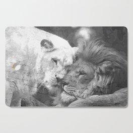 Lion in Love Valentine's Day Cutting Board