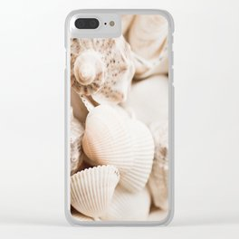 Sea snails and molluscs empty shells Clear iPhone Case