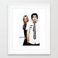 chuck Framed Art Prints featuring Chuck by SyafSyaf
