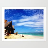 indonesia Art Prints featuring BALI, Indonesia  by BRIELLE LEVY