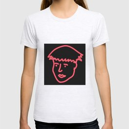 Boy in neon T-shirt