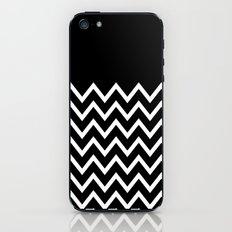 White Chevron On Black iPhone & iPod Skin