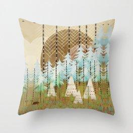native summer Throw Pillow