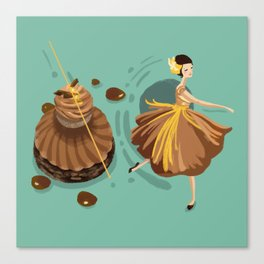 Caramel Salted Butter Choux  Canvas Print