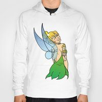 tinker bell Hoodies featuring Tinker Bell by NOBODY's Art