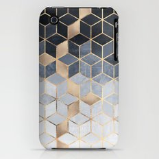 Soft Blue Gradient Cubes iPhone (3g, 3gs) Slim Case
