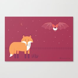 Mammal Next Door introducing Oddity & Cosmos Canvas Print