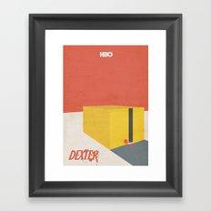 Dexter - Minimal Movie Poster Framed Art Print