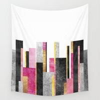 skyline Wall Tapestries featuring Skyline by Elisabeth Fredriksson