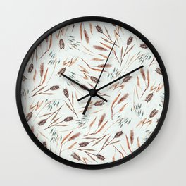 Cereal Field Pattern Wall Clock
