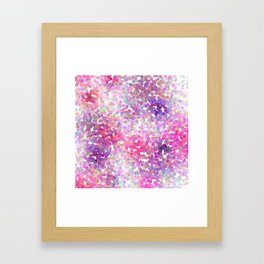 Pink and Purple Galaxy Confetti Framed Art Print
