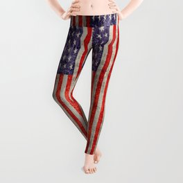 Antique American Flag Leggings