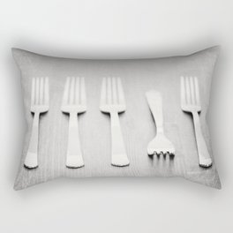 There's a fork in the road, but you never take it, always go the same way home... Rectangular Pillow