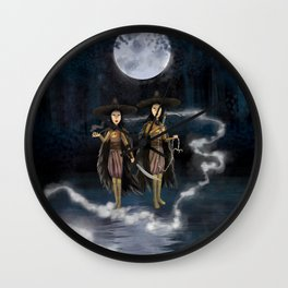 Sisters, Kubo digital painting Wall Clock