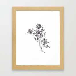 Roses in Ink Framed Art Print