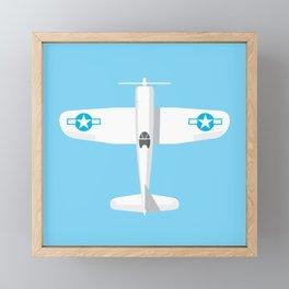 F4U Corsair Fighter Aircraft - Sky Framed Mini Art Print