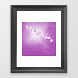 Abstract flowers and texture in pink Framed Art Print