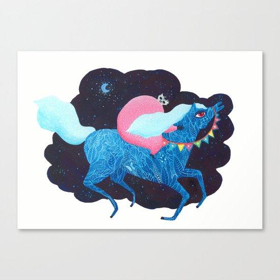 Death on a horse fairy tale illustration Canvas Print