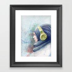 girl watercolor Framed Art Print