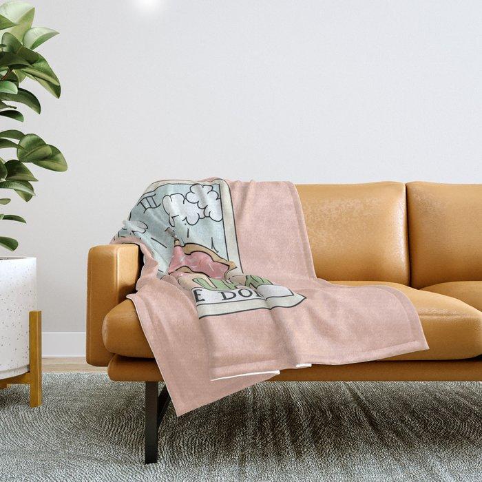 DONUT READING Throw Blanket