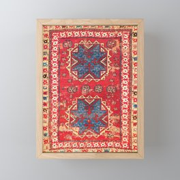 Bergama Northwest Anatolian Rug Framed Mini Art Print