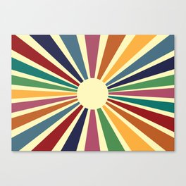 Sun Retro Art II Canvas Print