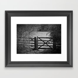 Gate To Bunkers Framed Art Print