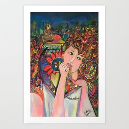 Colourfully celebrating Art Print