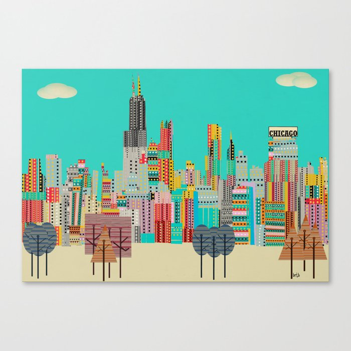 Chicago city (summer days) Canvas Print
