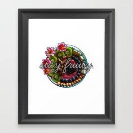 Stay Fruity Framed Art Print