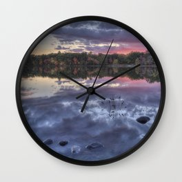 Floating Rocks Wall Clock