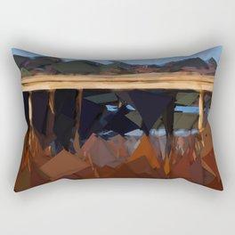 Bridge over water Rectangular Pillow