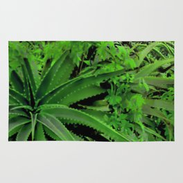 Vivid Tropical Design Rug
