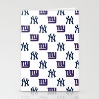 yankees Stationery Cards featuring NY Yankees and Giants  by Shaina