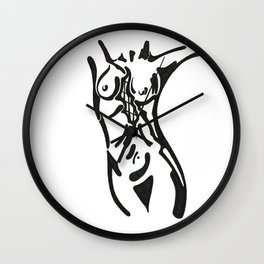 Curved Wall Clock