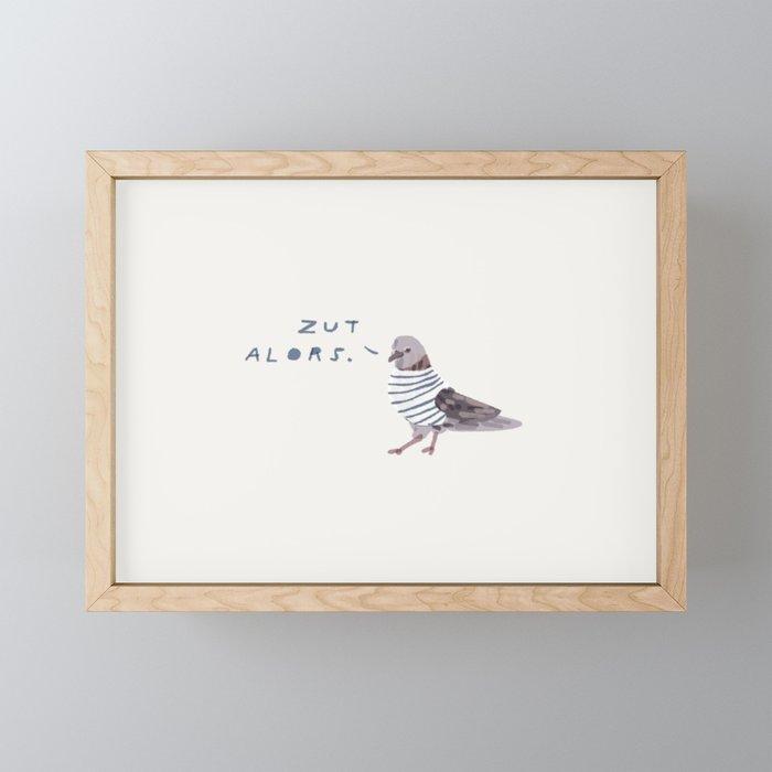 Zut Alors // French Birds Framed Mini Art Print