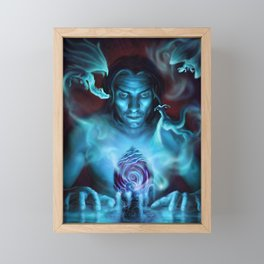 Dragon Egg Barbarian Summoning Spirit Framed Mini Art Print