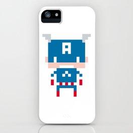 Pixel Captain America iPhone Case