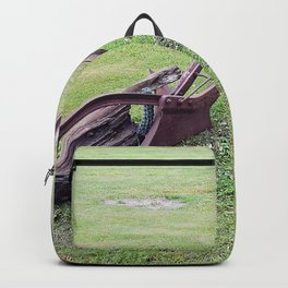 Antique Farm Plows Backpack