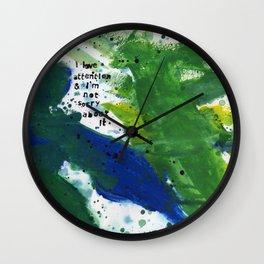 I Love Attention Wall Clock