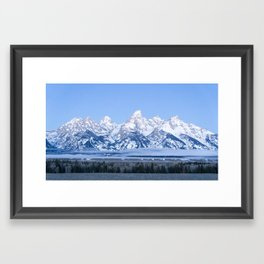 Tetons before Sunrise Framed Art Print