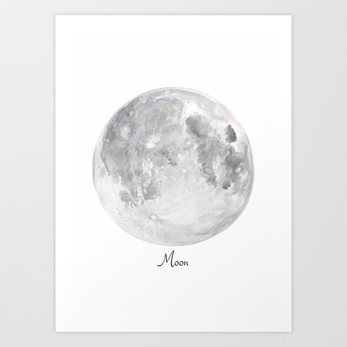 Sunday's Society6 | Moon watercolor art print