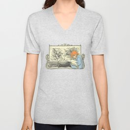 Leave Me Alone, I'm Reading (and I'm a Redhead) Unisex V-Neck