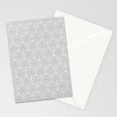 Icosahedron Soft Grey Stationery Cards