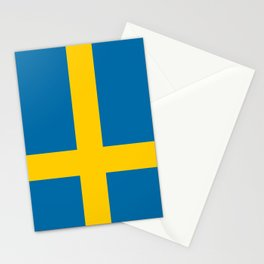 National flag of Sweden Stationery Cards