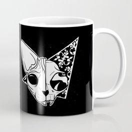 Half and half sphynx cat skull Coffee Mug