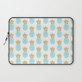 Elegant faux gold pineapple pattern Laptop Sleeve